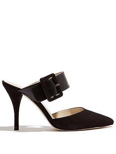 karen-millen-buckle-mule-shoe-blacknbsp