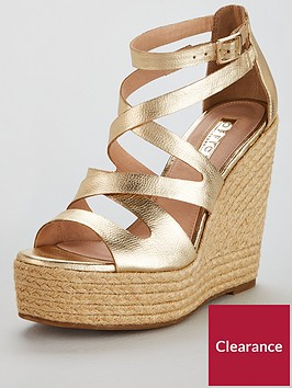office-hot-love-wedge-shoes-gold