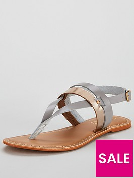 office-salute-leather-sandal-grey