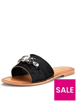 office-sadie-pony-flat-sandal-black