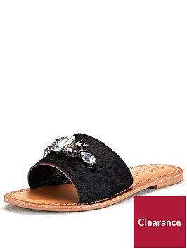 office-sadie-pony-flat-sandal-black