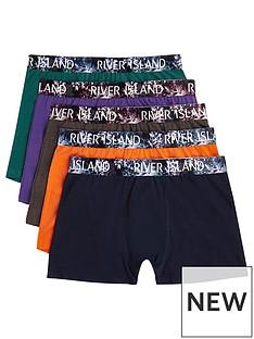 river-island-5pk-floral-waistband-trunks