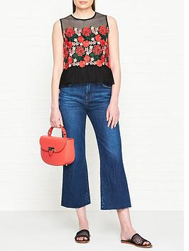 sportmax-code-nereo-floral-lace-and-mesh-top-black