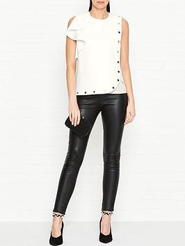 sportmax-code-afro-popper-detail-top-white