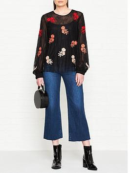 sportmax-code-volta-embroidered-lace-top-black