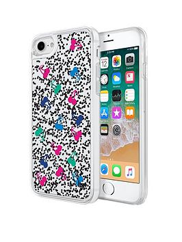 Kendall & Kylie Liquid Glitter Case For Iphone 8/7 - Cherries Black/Pink/Green/Blue