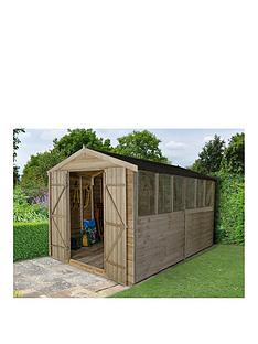 forest-12-x-8ft-pressure-treated-apex-workshop-with-6-windows-and-double-doors-plus-assemblynbsp