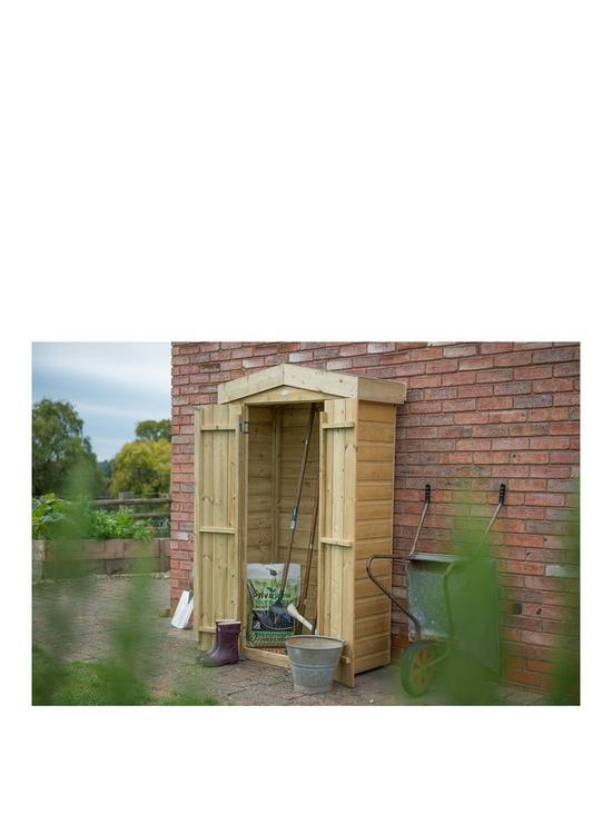 FOREST FOREST SHIPLAP APEX TALL GARDEN STORE 178X107X55CM   PRESSURE  TREATED | Very.co.uk