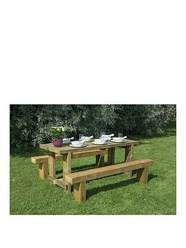 forest-refectory-garden-table-andnbsp2-benches-18mnbsp