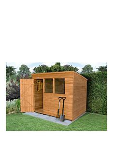 FOREST FOREST 8X6FT GREAT VALUE OVERLAP SHED PENT ROOF WITH WINDOWS