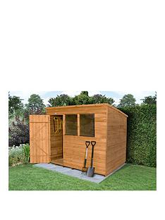 forest-8-x-6ft-great-value-overlap-shed-pent-roof-with-windows-plus-base-andnbspassembly