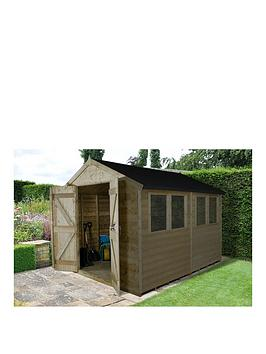 forest-10-x-8ft-premium-tongue-amp-groove-apex-workshop-with-4-windows-and-double-doors-pressure-treated-with-assembly