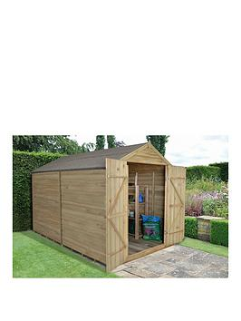 forest-10-x-8ft-overlap-pressure-treated-apex-windowless-workshop-with-double-doors-andnbspassembly