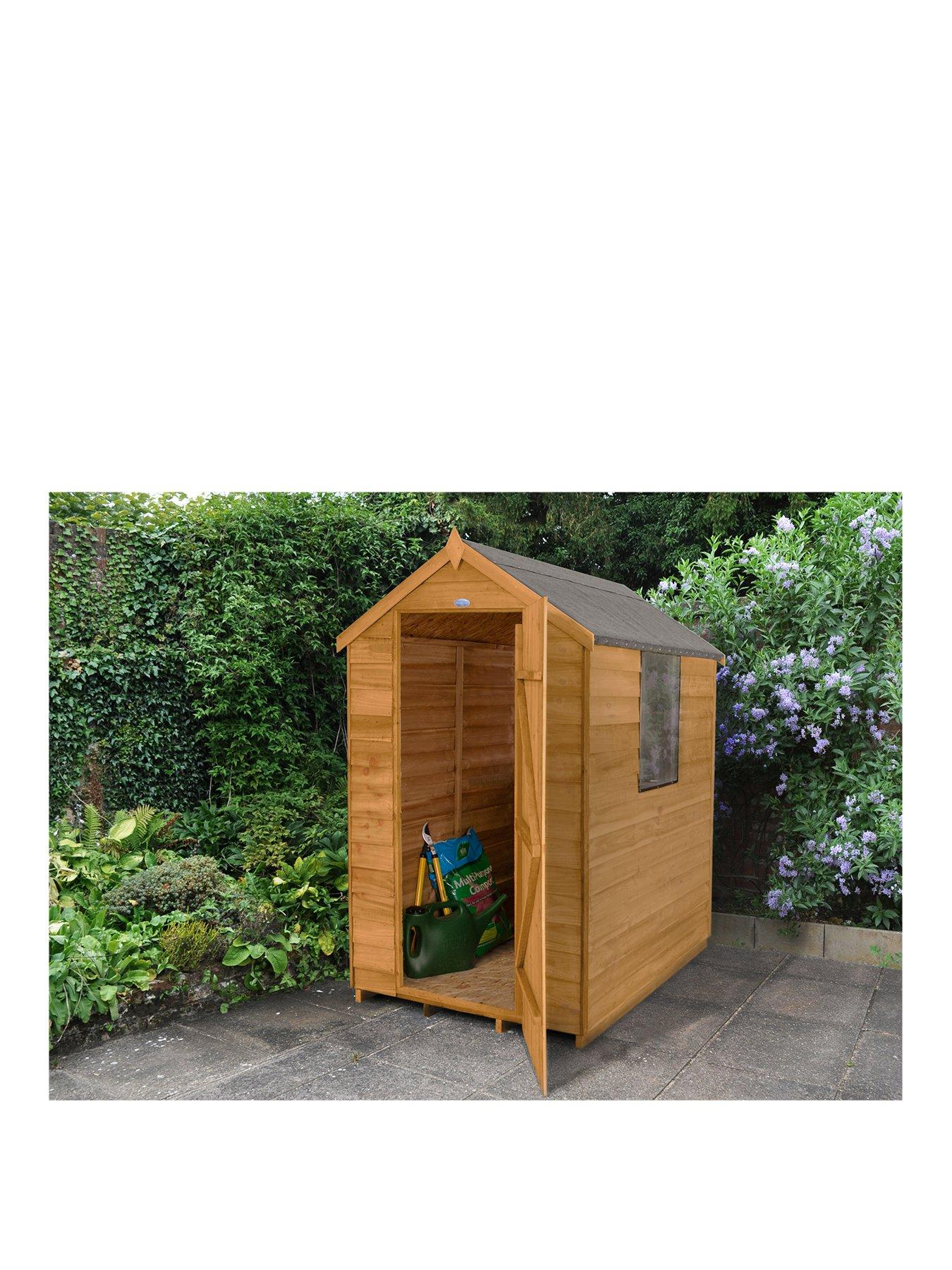FOREST FOREST 6X4 GREAT VALUE STARTER SHED OVERLAP APEX WITH WINDOWS