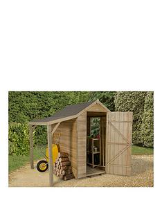 forest-forest-6x4ft-overlap-apex-shed-with-window-and-lean-to-pressure-treated