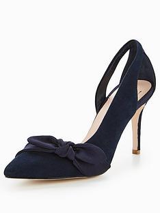 coast-eline-bow-court-shoes-navy