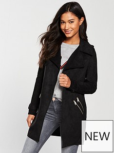 river-island-river-island-faux-suede-trench-jacket--black