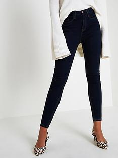 river-island-river-island-harper-high-rise-short-leg-skinny-jeans--dark-auth