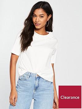 river-island-river-island-flower-neck-boxy-t-shirt--white