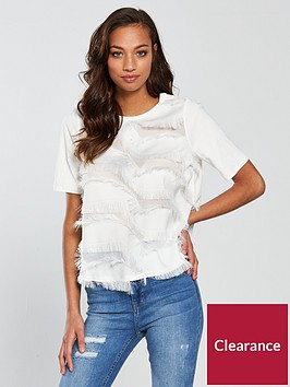 river-island-fringe-t-shirt--white