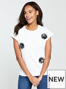 v-by-very-flower-embellished-t-shirt