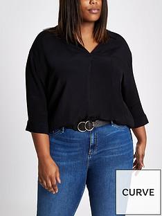 ri-plus-cross-back-blouse--black