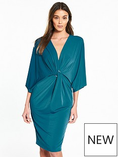 river-island-river-island-ring-detail-plunge-dress--green