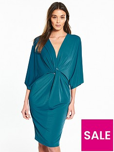 river-island-river-island-ring-detail-plunge-dress--teal