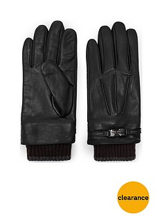 ted-baker-ribbed-cuff-leather-glove