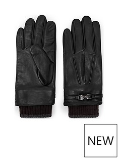 ted-baker-ted-baker-ribbed-cuff-leather-glove