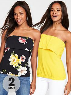 v-by-very-pack-of-2-boobtubesnbsp--yellowfloral