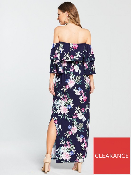 66fab5d61fd8 V by Very Petite Tiered Jersey Maxi Dress - Floral Print | very.co.uk
