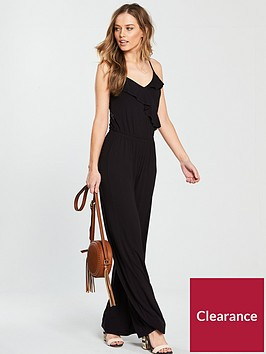 v-by-very-frill-strappynbspjersey-jumpsuit-black