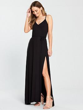 v-by-very-wrap-split-front-maxi-dress-blacknbsp