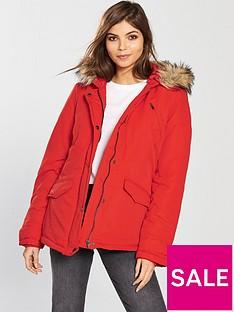 vila-must-short-parka-jacket-with-faux-fur-hood
