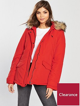 vila-must-short-parka-jacket-with-faux-fur-hood