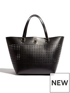 karen-millen-circle-perforated-tote-bag-blacknbsp