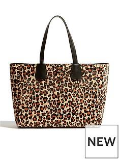 karen-millen-leopard-east-west-tote-bag