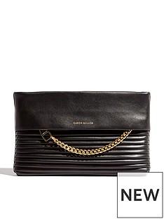 karen-millen-chain-zip-clutch-bag-blacknbsp