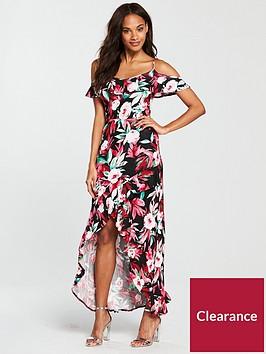 v-by-very-petite-frill-dip-hem-jersey-maxi-dress-printnbsp