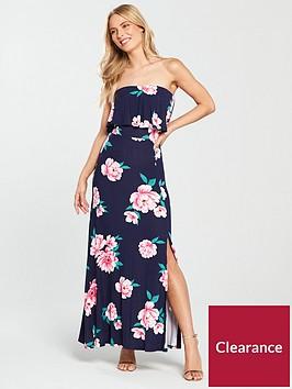 v-by-very-bandeau-split-jersey-maxi-dress-floral-print