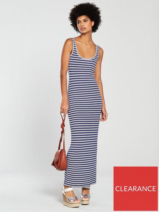 8598684c76 V by Very Scoop Neck Jersey Maxi Dress - Blue Stripe | very.co.uk