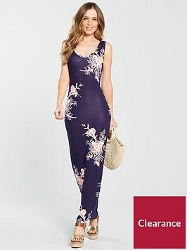 v-by-very-petite-scoop-neck-maxi-dress-print