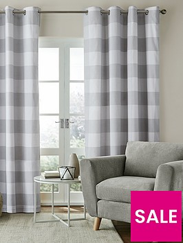 catherine-lansfield-bold-check-lined-eyelet-curtainsnbsp