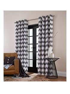catherine-lansfield-zig-zag-lined-eyelet-curtains