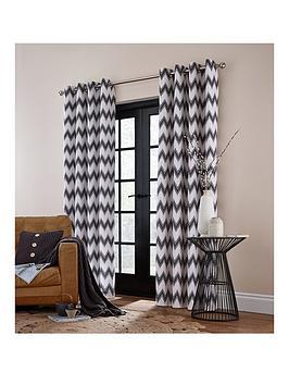 catherine-lansfield-zig-zag-lined-eyelet-curtains