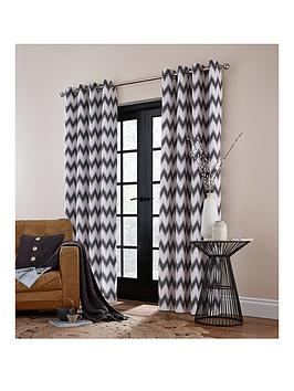 catherine-lansfield-zig-zag-lined-eyelet-curtainsnbsp