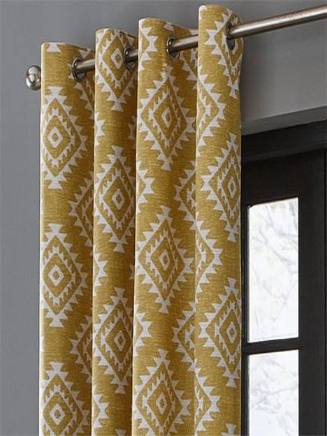 catherine-lansfield-aztec-lined-eyelet-curtains