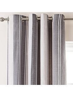 catherine-lansfield-herringbone-stripe-lined-eyelet-curtains