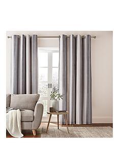 catherine-lansfield-catherine-lansfield-herringbone-stripe-lined-eyelet-curtains-90x90